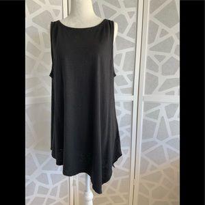 Eileen Fisher linen/cotton asymmetric tunic EUC